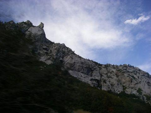 花崗岩の峡谷